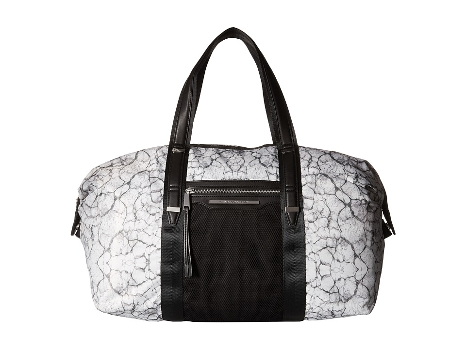 French Connection Indy Duffel Marble Print Duffel Bags