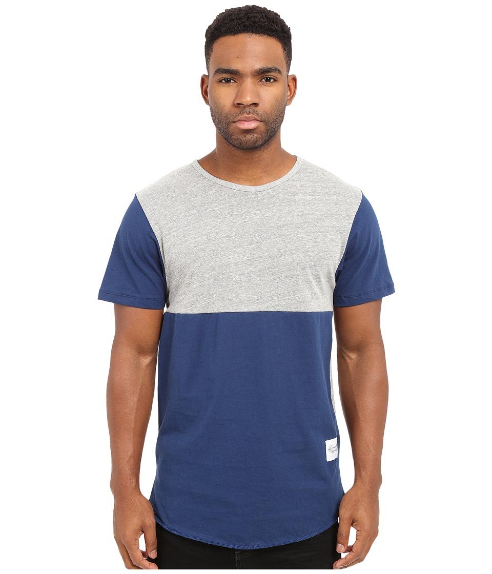 KINETIX Jefferson Tee Gray/Blue Mens T Shirt