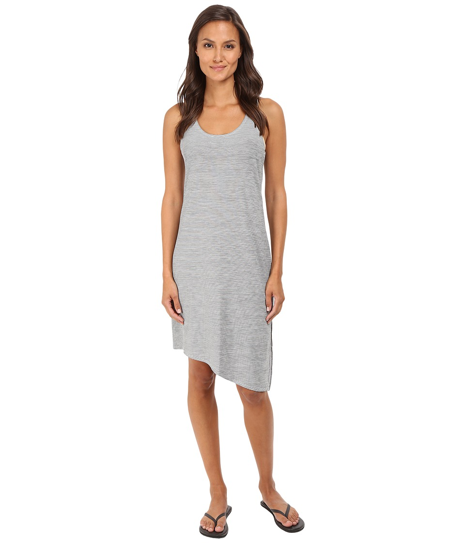 Manduka Racerback Dress Grey/White Stripe Womens Dress