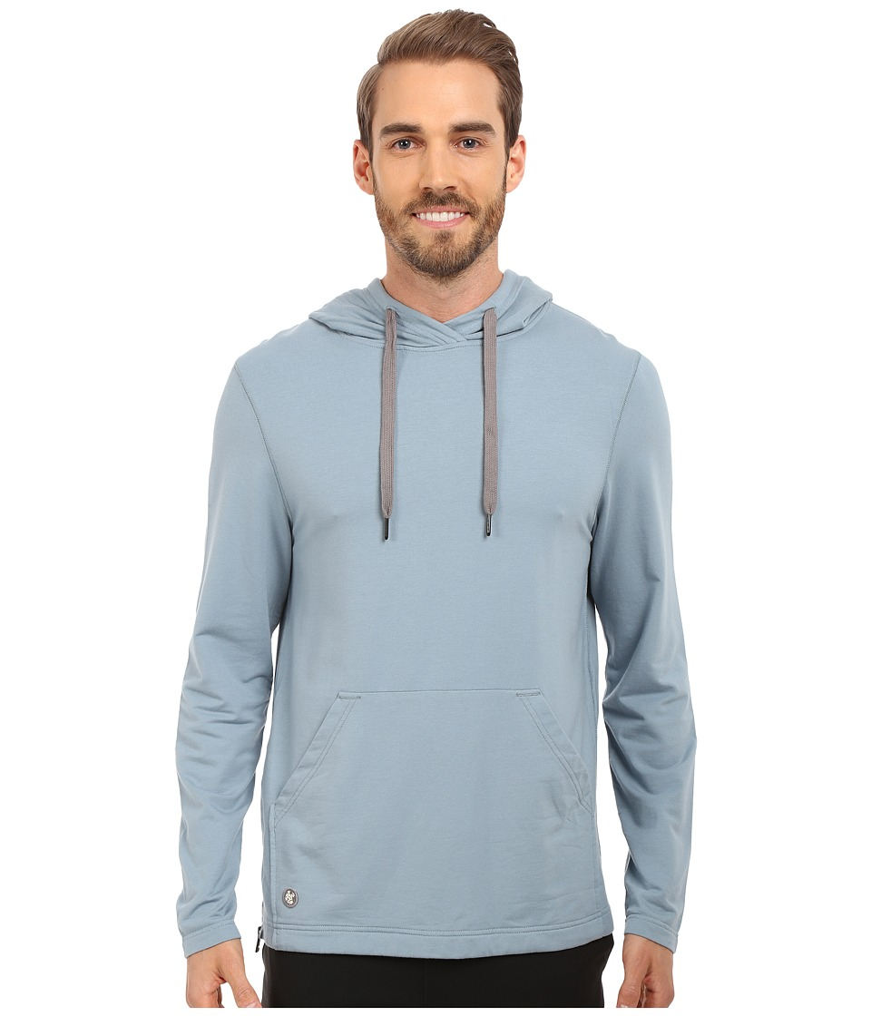 Manduka Intentional Hoodie Steel Blue Mens Sweatshirt