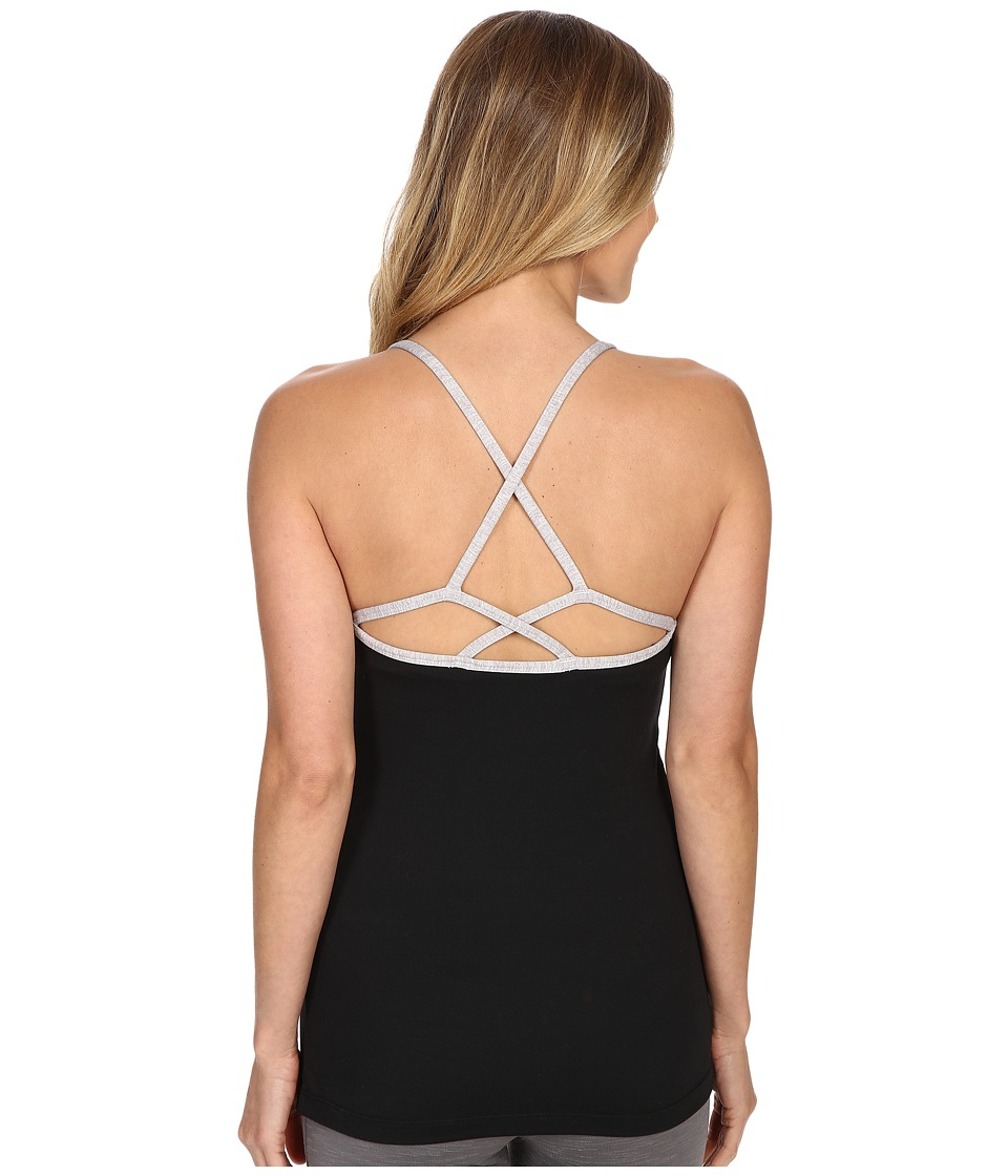 Manduka Cross Strap Cami Black Womens Sleeveless