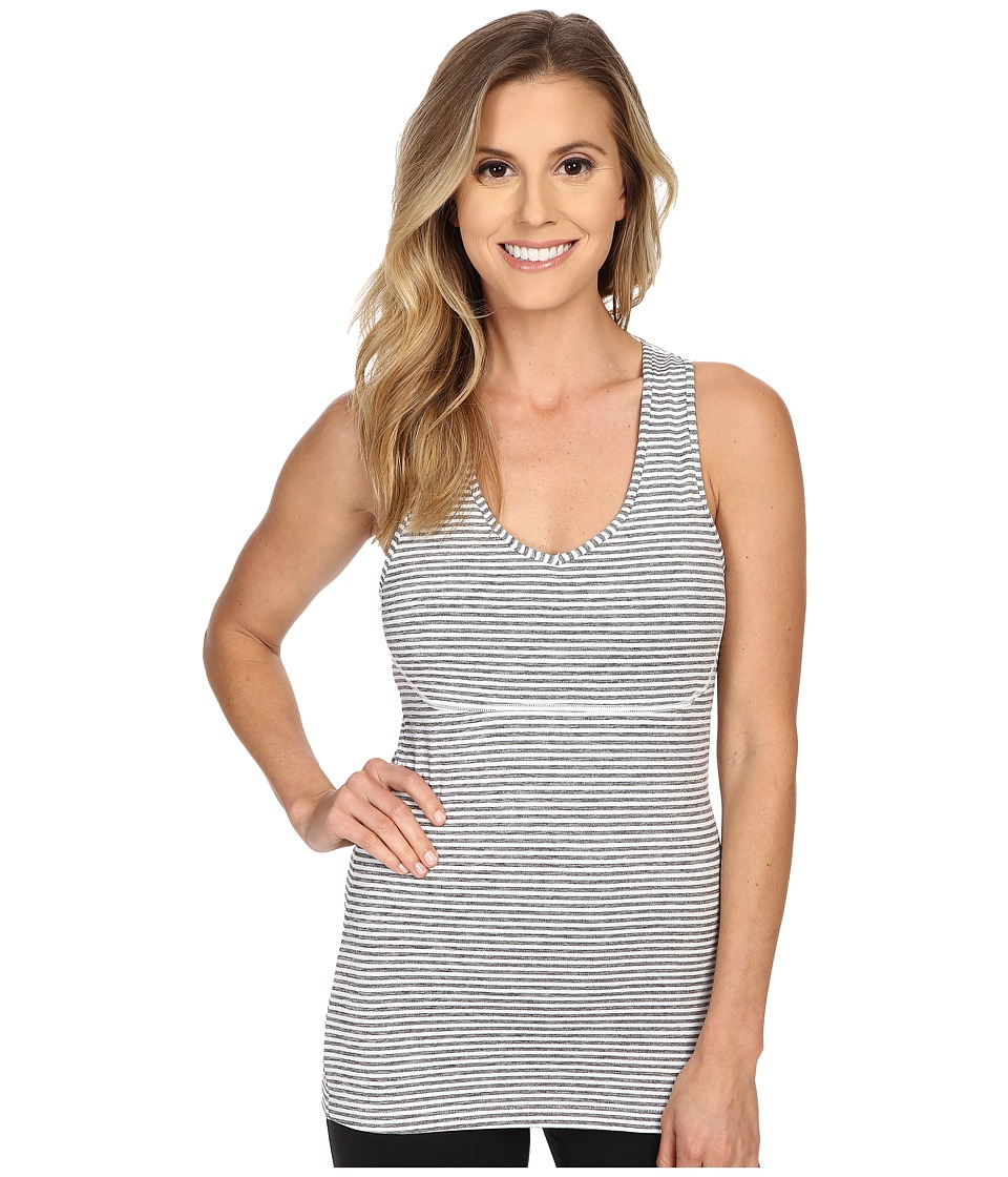 Manduka Racerback Cami Grey/White Stripe Womens Sleeveless