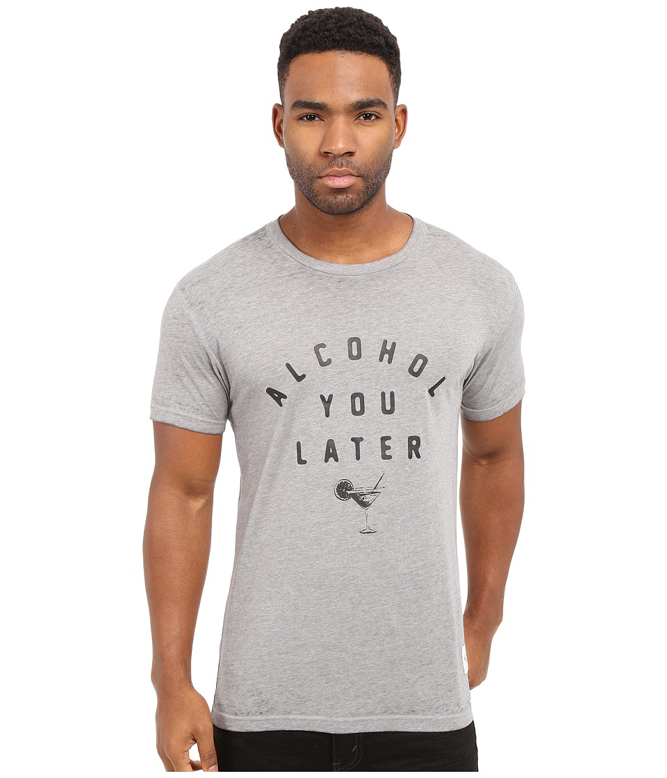 KINETIX Alcohol You Later Tee Grey/Black Out Mens T Shirt
