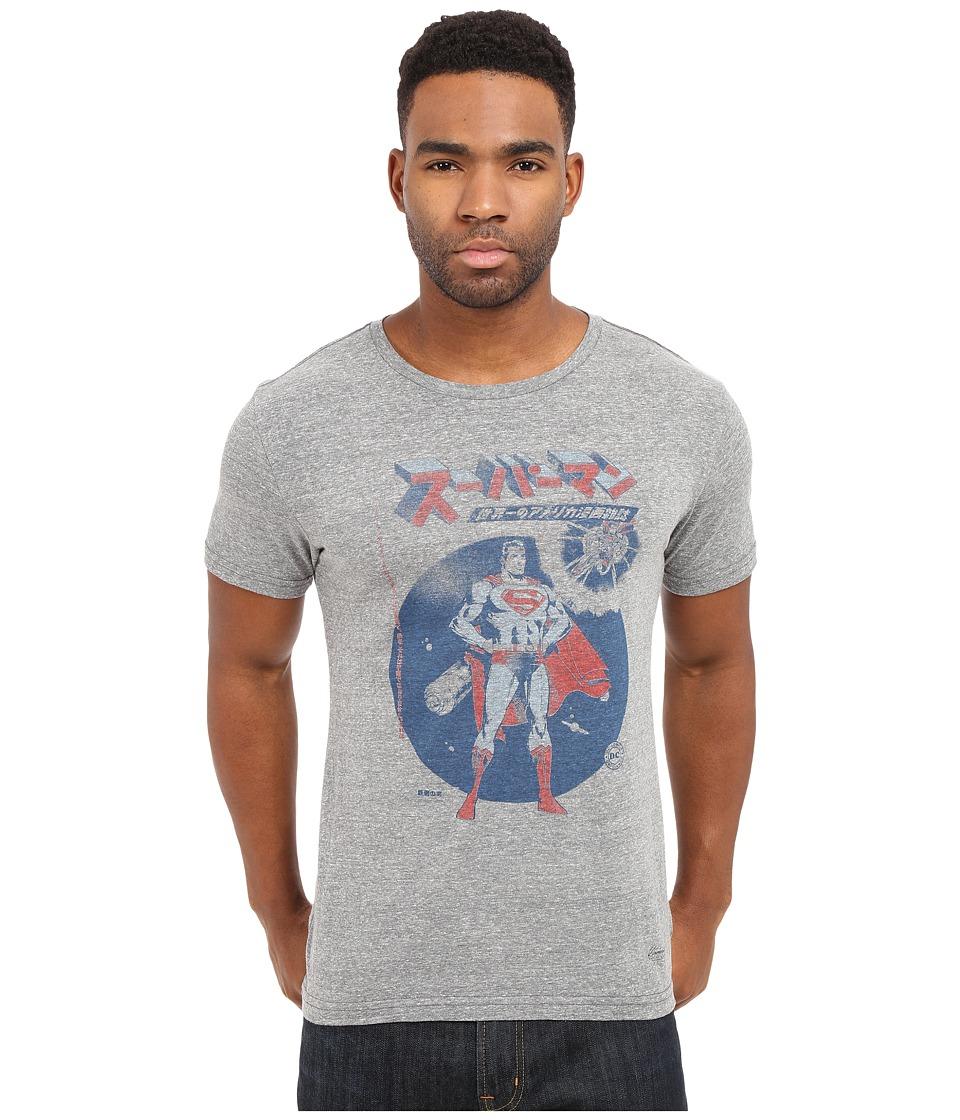 KINETIX Superman Comic Kanji Tee Heather Grey Mens T Shirt