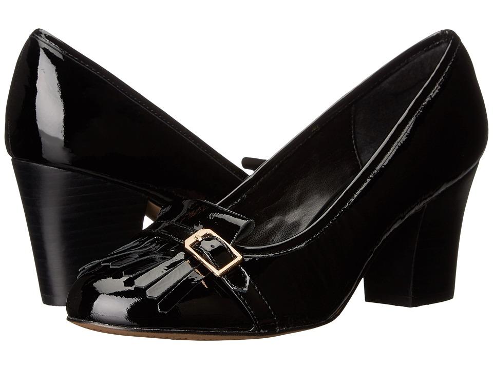 Isola Tara (Black Goat Crinkle Patent) High Heels