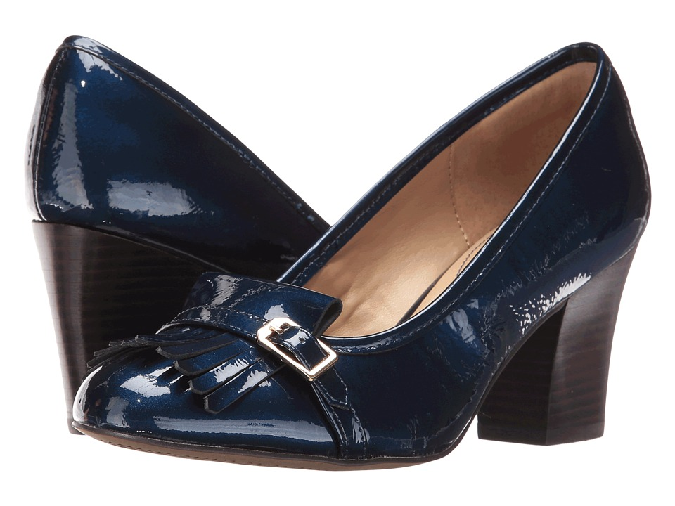 Isola Tara (Ink Blue Goat Crinkle Patent) High Heels
