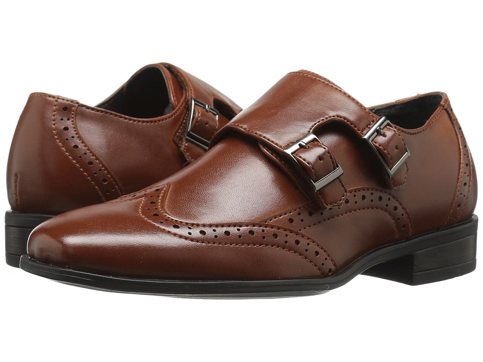 Stacy Adams Kids Brewster (Little Kid/Big Kid) (Cognac) Boy's Shoes