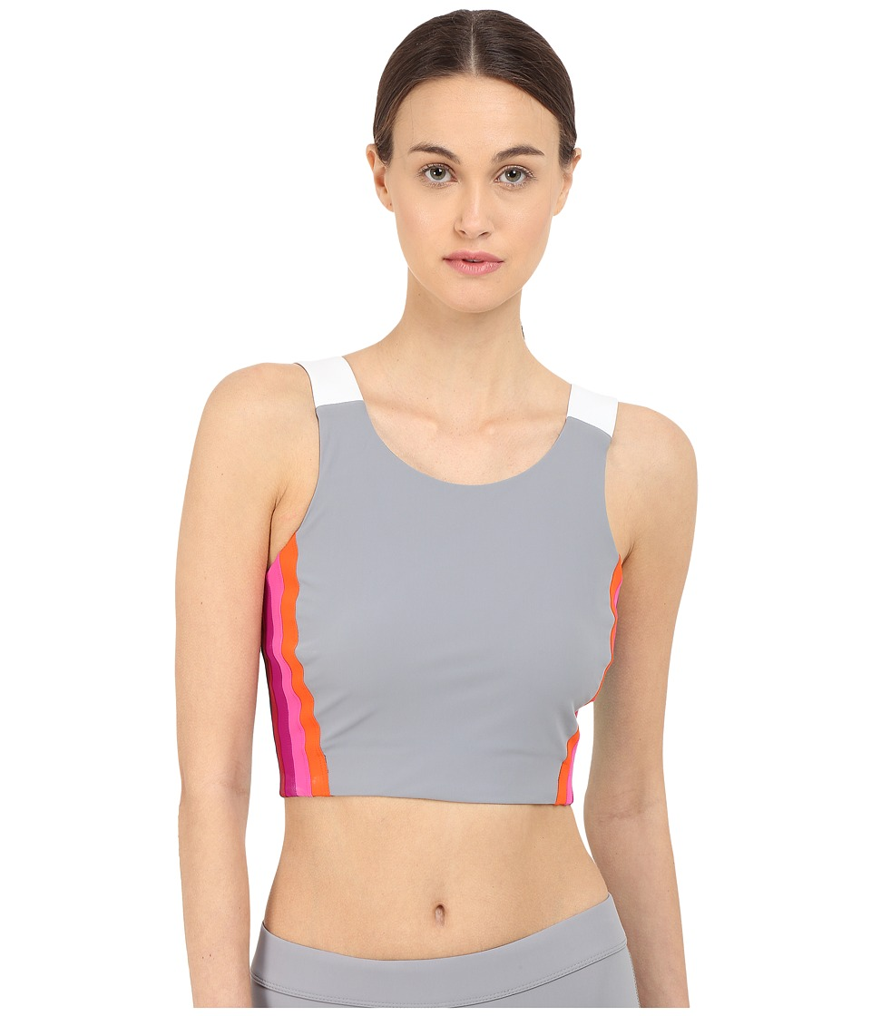 NO KAOI Lepo Top with Bra Grey/White Womens Bra