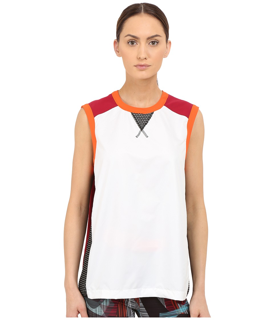 NO KAOI Lena Top White/Orange/Red Womens Sleeveless