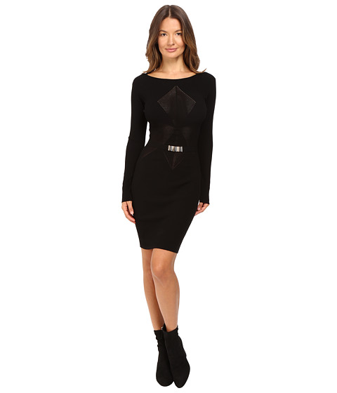 Versace Collection Long Sleeve Knit Geo Dress