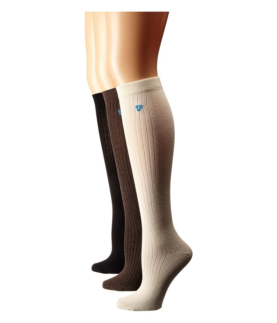 PACT Everyday Knee Socks 6-Pack (Multi) Women's Knee High...