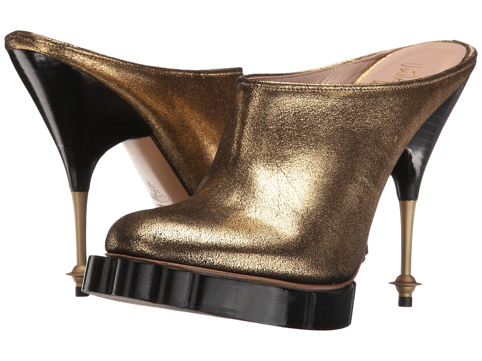 Vivienne Westwood - Animal Mule (Gold) High Heels