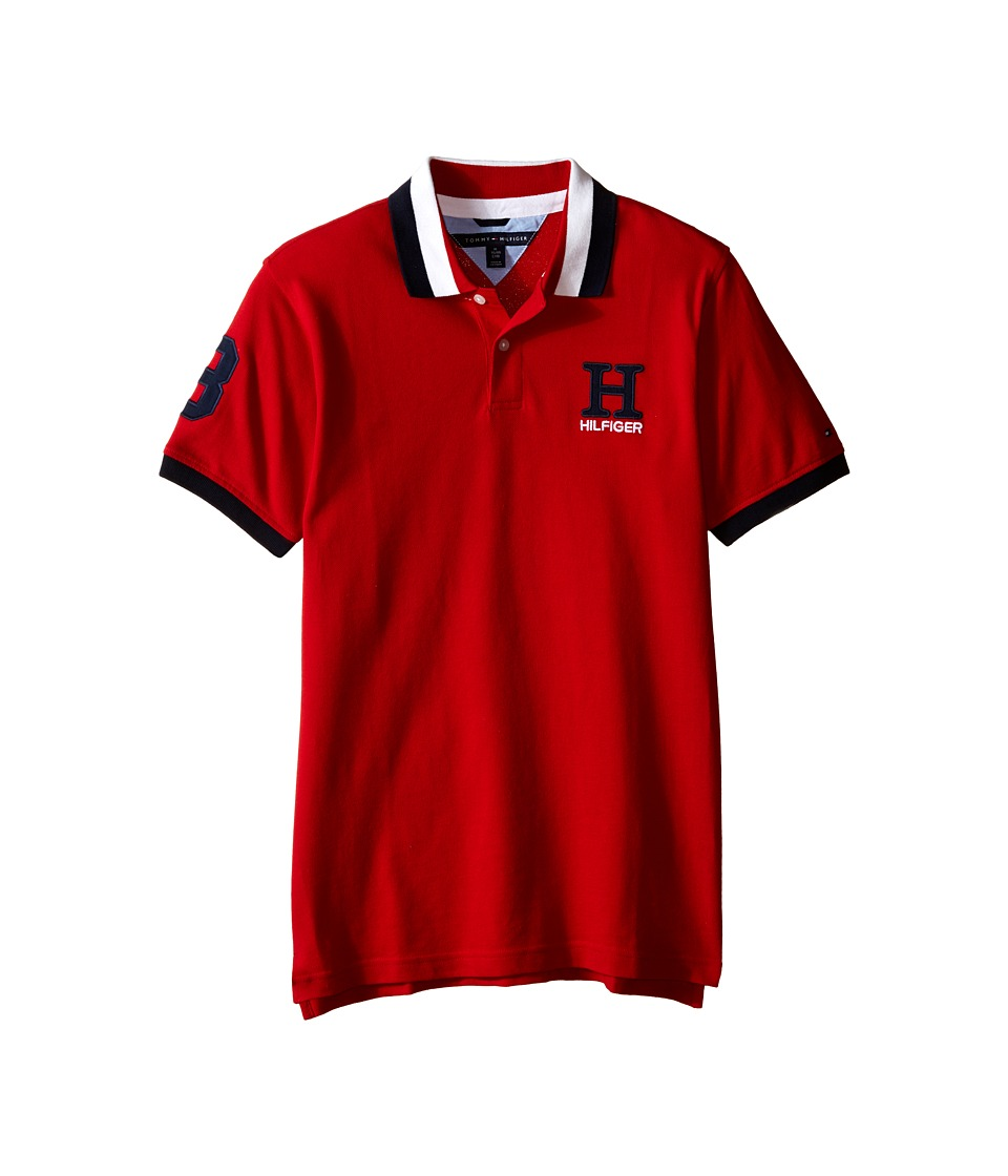 Tommy Hilfiger Kids - Short Sleeve Matt Polo (Big Kids) (Regal Red) Boys Short Sleeve Pullover