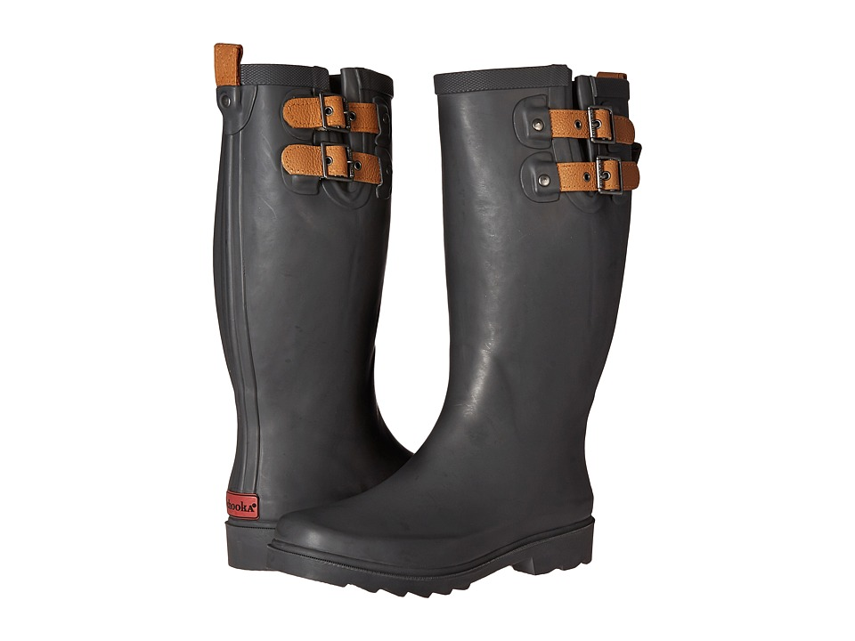 Chooka Top Solid Rain Boot (Dark Gray) Women