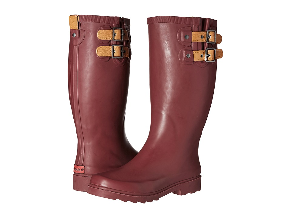 Chooka Top Solid Rain Boot (Wine) Women