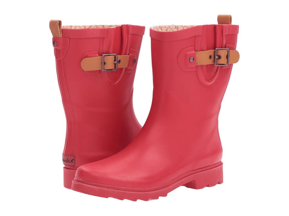 Chooka - Top Solid Mid Rain Boot (Red) Women