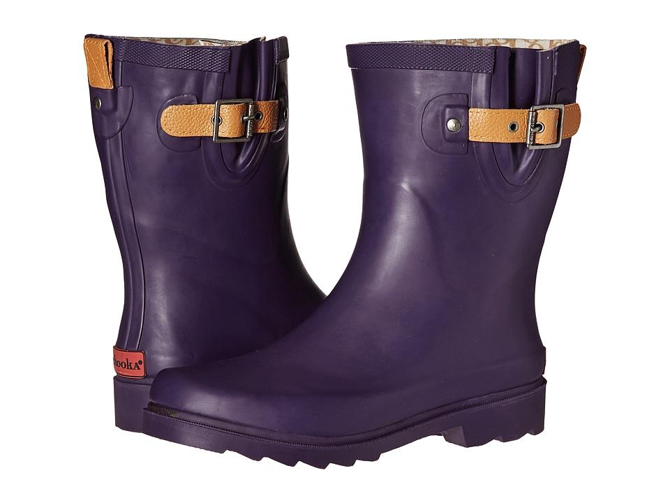 Chooka - Top Solid Mid Rain Boot (Eggplant) Women