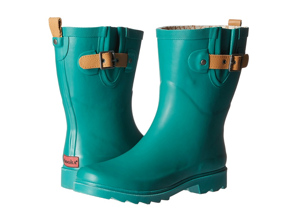 Chooka - Top Solid Mid Rain Boot (Jade) Women