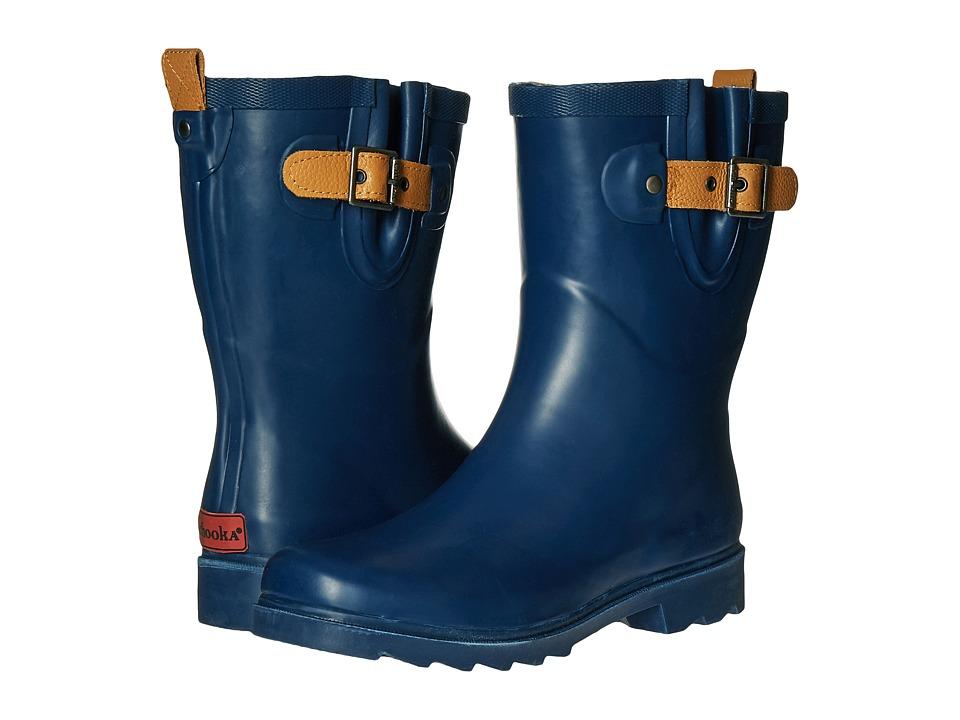Chooka Top Solid Mid Rain Boot (Deep Navy) Women