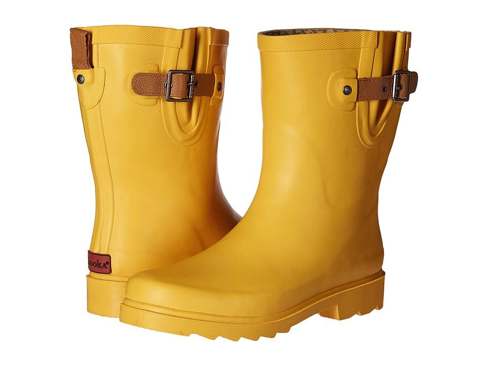 Chooka Top Solid Mid Rain Boot (Marigold) Women