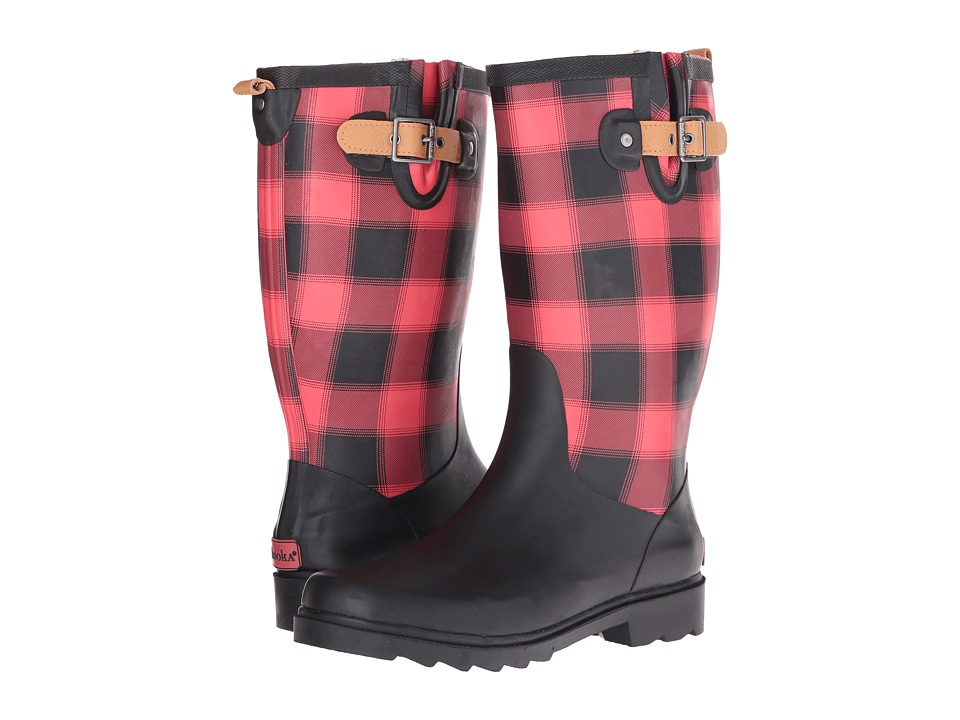 Chooka Lumber Buffalo Plaid Rain Boot (Red) Women