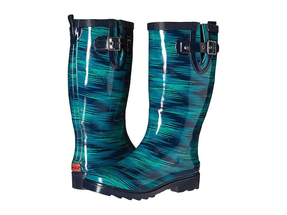 Chooka Electric Ikat Rain Boot (Navy) Women