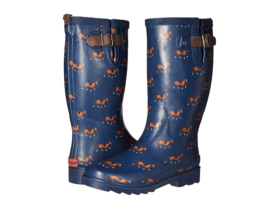 Chooka Horse Trot Rain Boot (Navy) Women