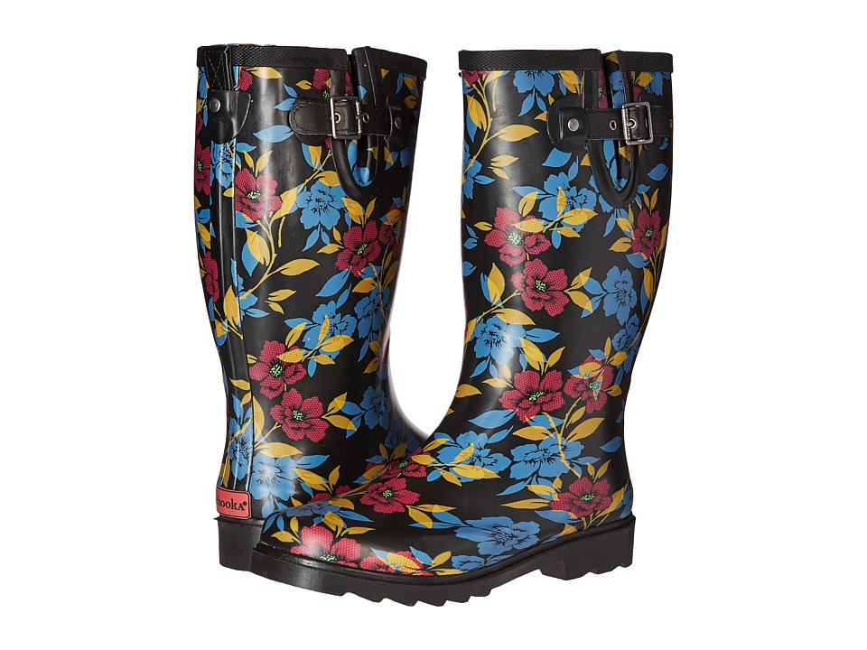Chooka Bohemian Night Rain Boot (Black) Women