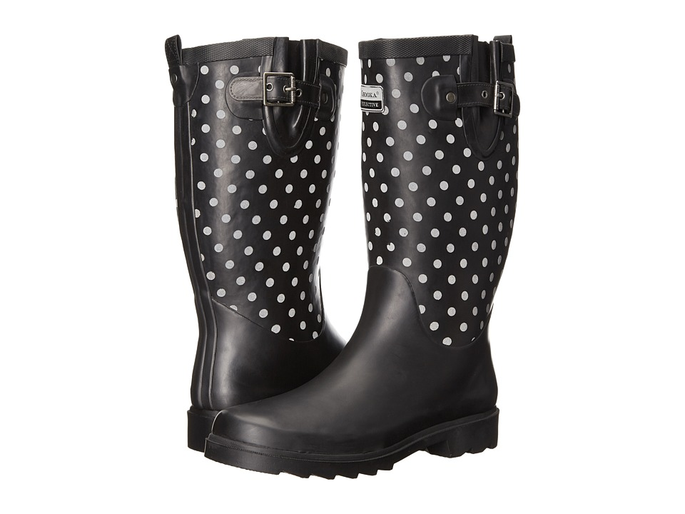 Chooka Flash Dot Rain Boot (Black) Women