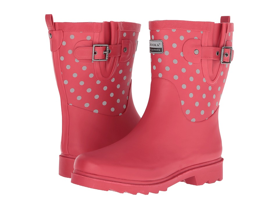 Chooka Flash Dot Mid Rain Boot (Red) Women
