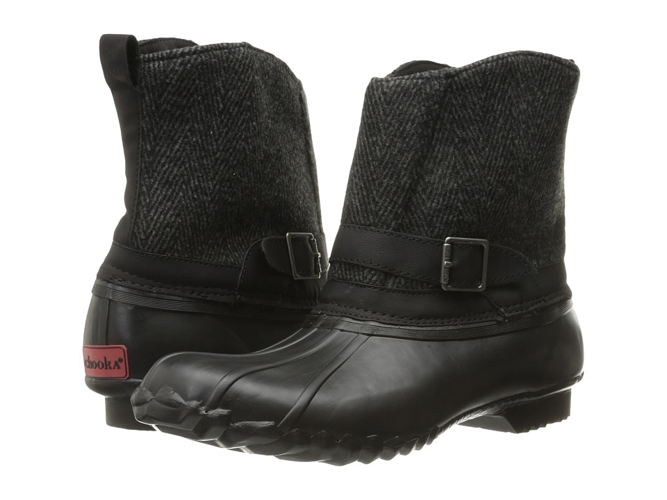 Chooka Step In Duck Boot Herringbone (Black) Women