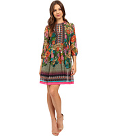 Donna Morgan - 3/4 Sleeve Printed Chiffon Dress