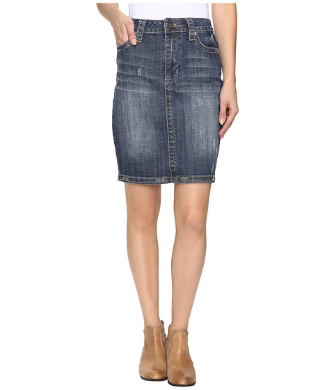 Stetson Pencil Denim Skirt - Blue