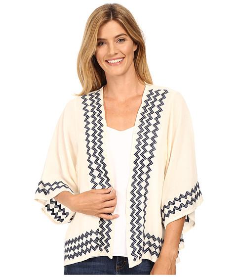 Stetson Cream Cotton Gauze Kimono - White