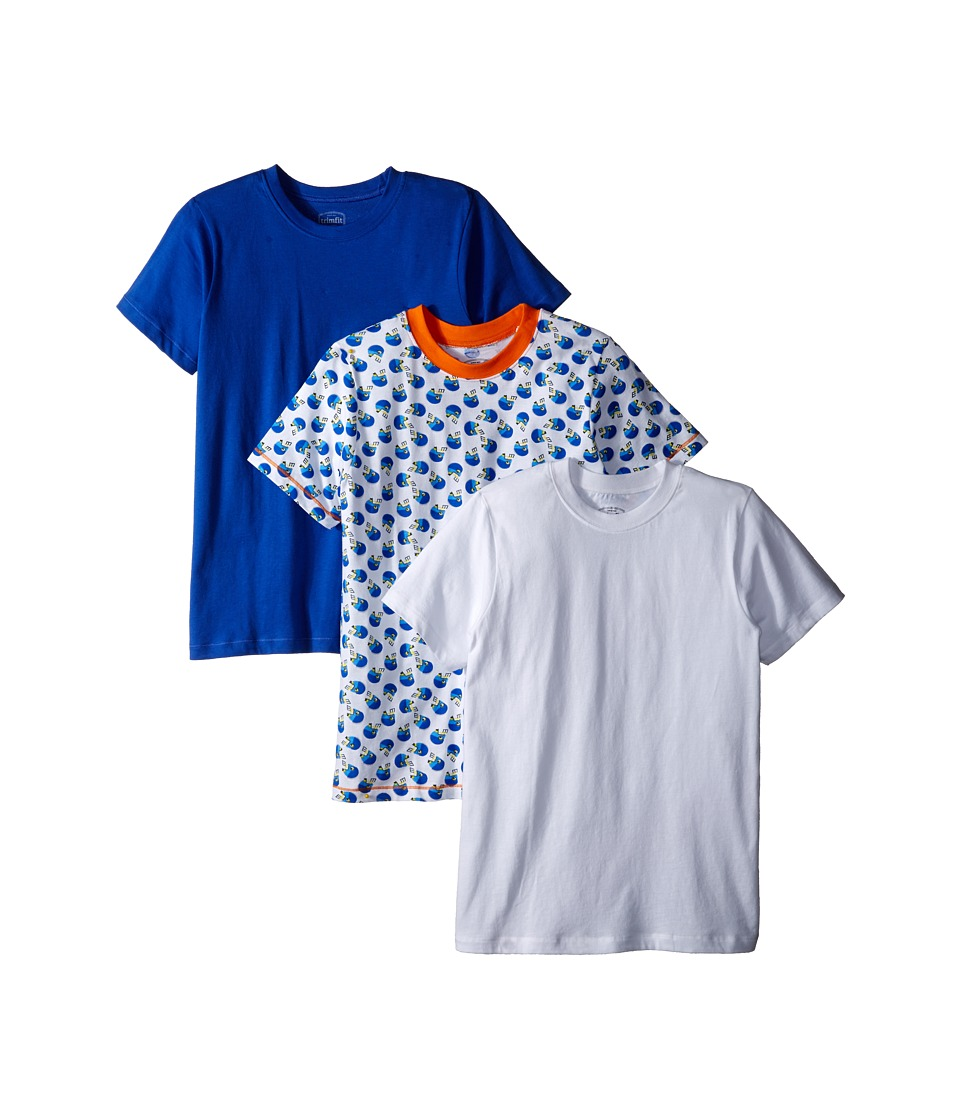 Trimfit Football Cotton T Shirts 3 Pack Toddler/Little Kids/Big Kids Navy/Orange/Yellow/White Boys T Shirt