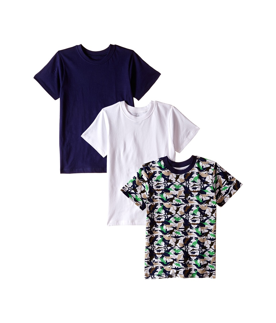 Trimfit Trimfit Dino Camo Cotton T Shirts 3 Pack Toddler/Little Kids/Big Kids Navy/Green/Beige/White Boys T Shirt