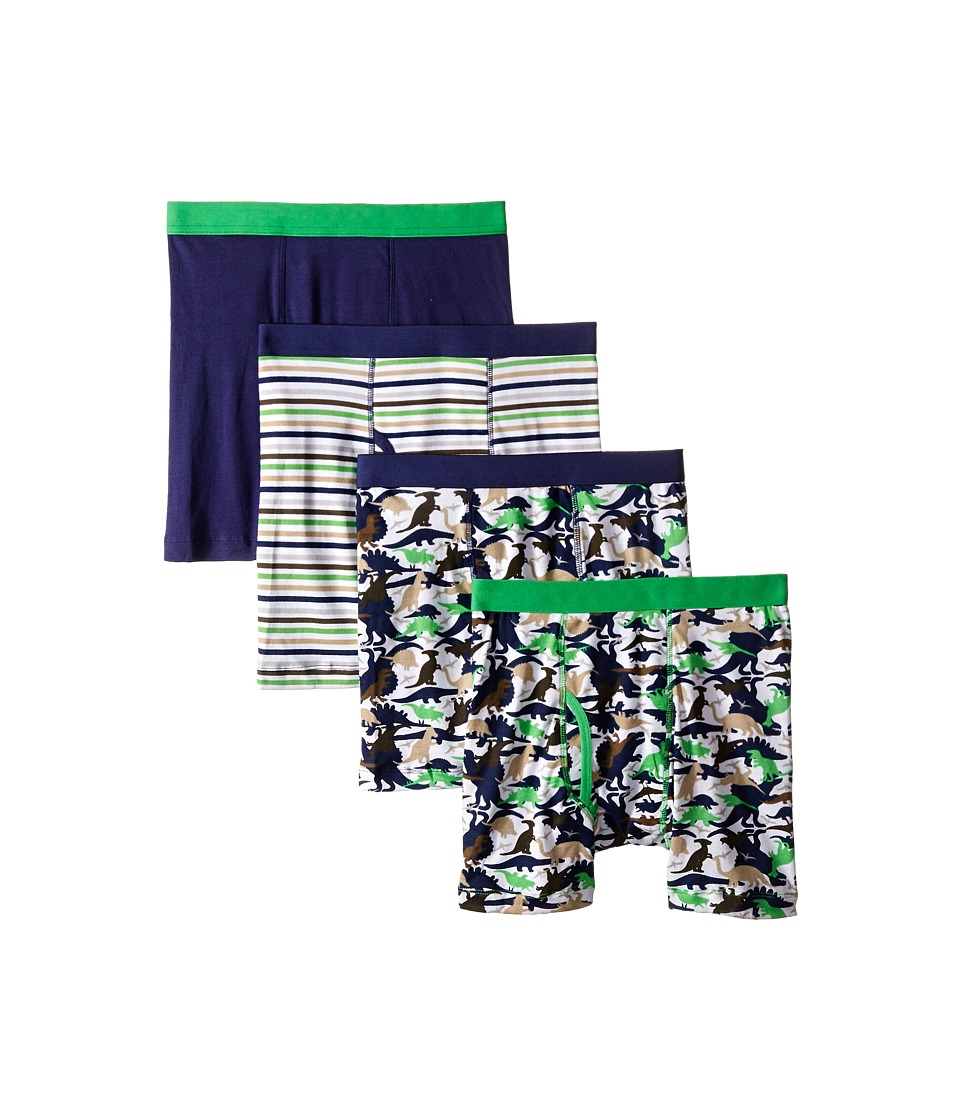 Trimfit Dino Camo Cotton Boxer Briefs 4 Pack Toddler/Little Kids/Big Kids Navy/Green/Beige/White Boys Underwear