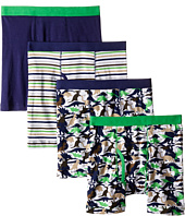Trimfit - Dino Camo Cotton Boxer Briefs 4-Pack (Toddler/Little Kids/Big Kids)