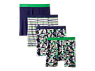 Trimfit Dino Camo Cotton Boxer Briefs 4-Pack (Toddler/Little Kids/Big Kids)