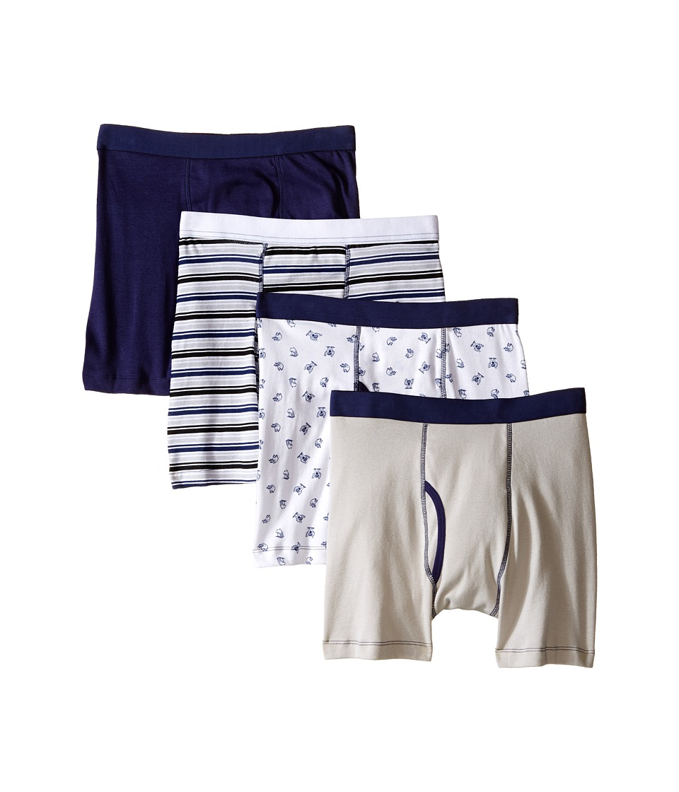 Trimfit Monster Cotton Boxer Briefs 4 Pack Toddler/Little Kids/Big Kids Navy/White Boys Underwear