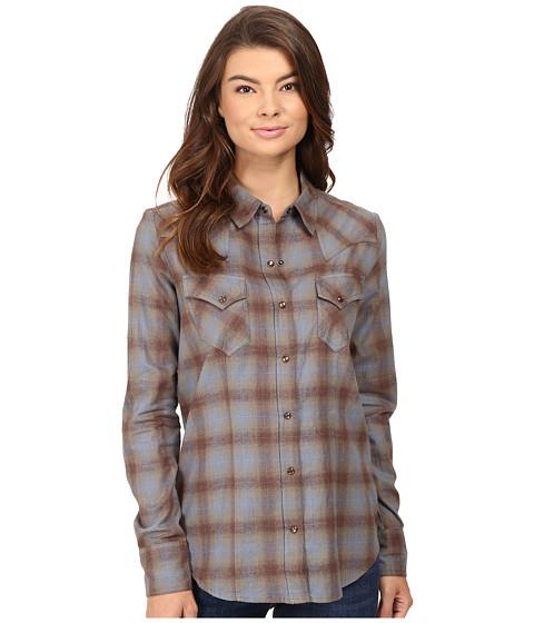 Stetson Steal Blue Plaid Western Shirt - Blue