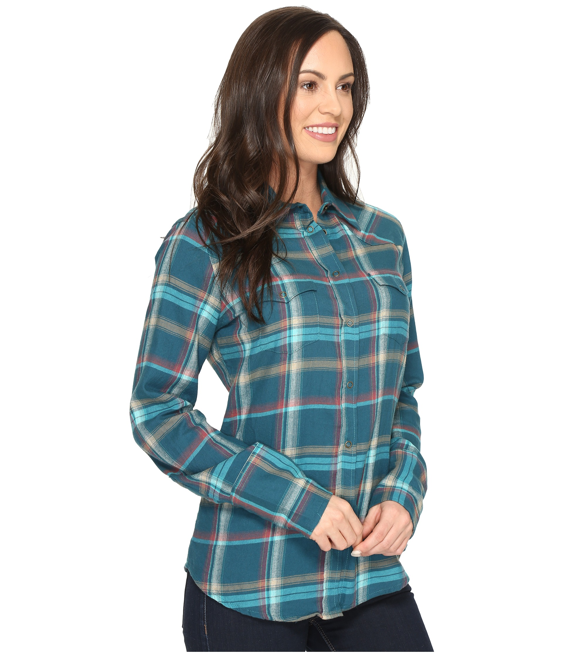 Stetson brushed twill ombre plaid shirt at for Brushed cotton twill shirt