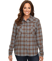 Stetson - Plus Size Steal Blue Plaid Western Shirt