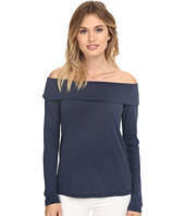 Splendid - Sandwash Jersey with Drapey Lux Off the Sholder Long Sleeve