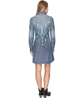 Stetson - Denim Dress w/ Aztec Embroidery