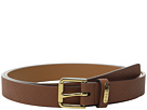 LAUREN Ralph Lauren Crosshatch Leather 1 Endbar Belt