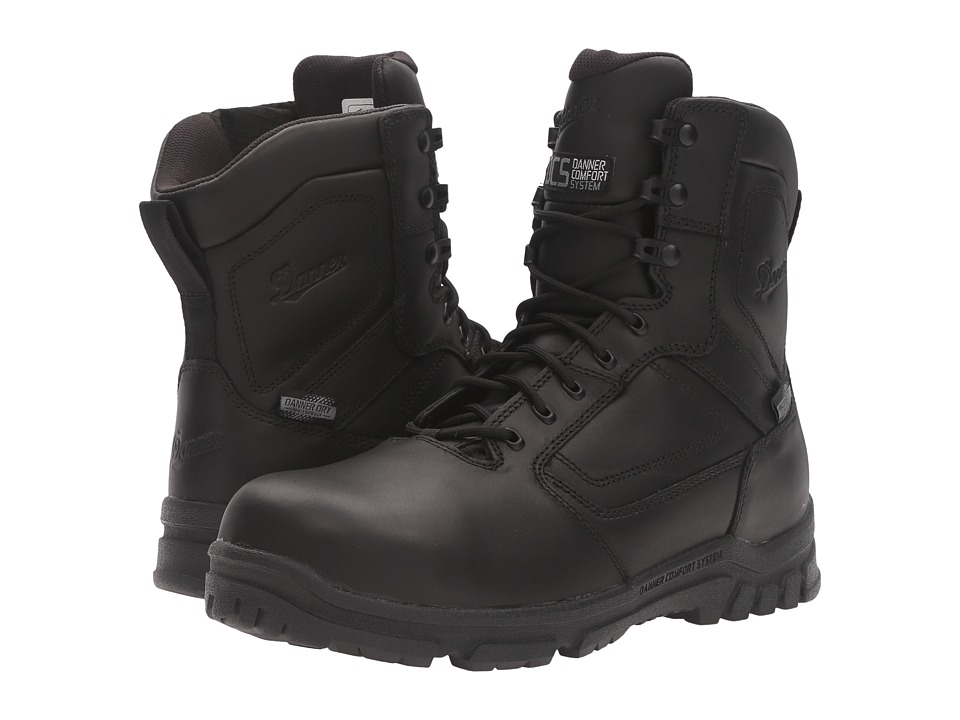 Danner - Lookout EMS/CSA Side-Zip 8 NMT (Black) Mens Work Boots