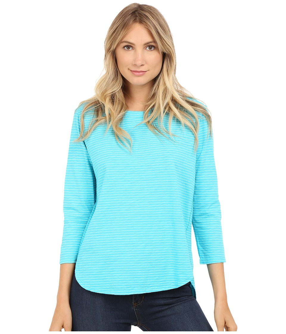 Fresh Produce Pinstripe Catalina Top Luna Turquoise Womens Clothing