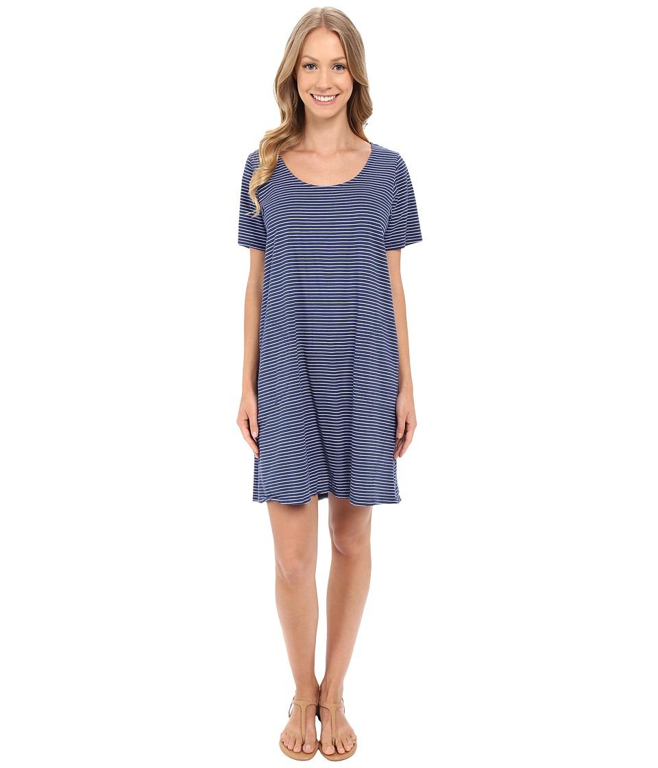 Fresh Produce Pinstripe Allure T Shirt Dress Moonlight Blue Womens Dress