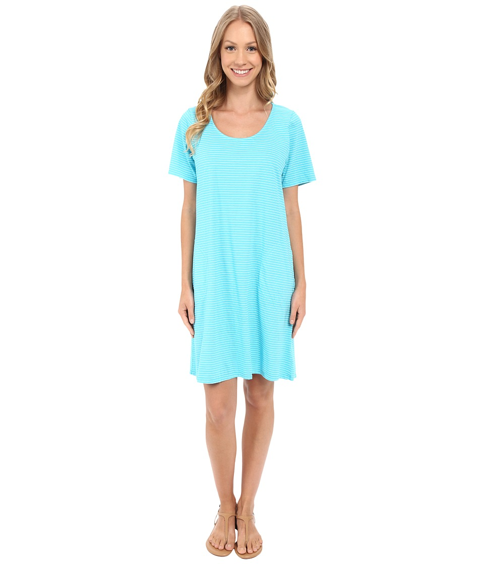 Fresh Produce Pinstripe Allure T Shirt Dress Luna Turquoise Womens Dress